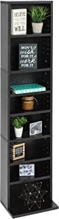 Best Choice Products 8-Tier Media Shelf Storage Cabinet Tower Bookcase w/Adjustable Shelves, 150lb Capacity - Black