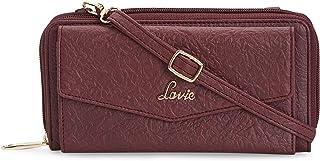 Lavie Halley Mobile + Sling Zip Around1 Women's Wallet(Maroon)