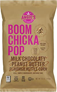Angie's BOOMCHICKAPOP Milk Chocolaty Peanut Butter Flavored Kettle Corn, 5.5 Ounce Bag