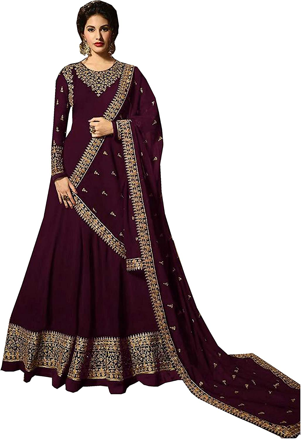 Delisa Indian Pakistani Bollywood Party Wear Long Anarkali Gown for Womens NG 2