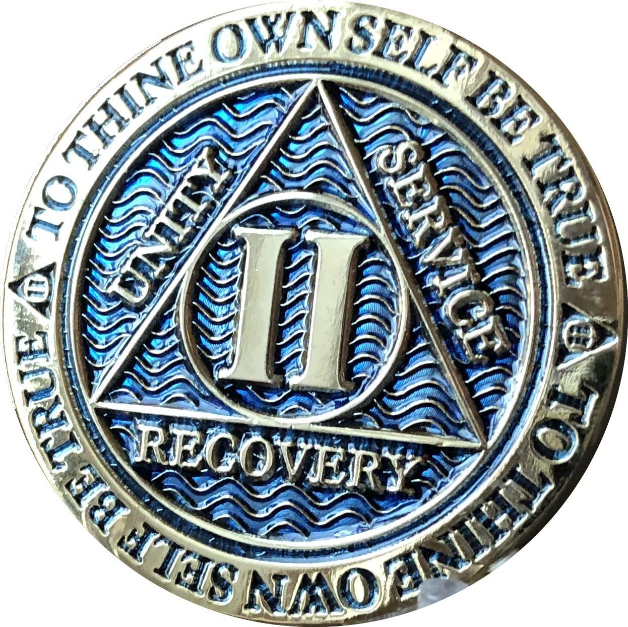 RecoveryChip 2 Year AA Medallion Dusty Blue 25% OFF Color Ch Plated Gold New Shipping Free Shipping