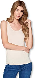 Solid Extra Soft Bamboo Sleeveless Tank Top Shirt for Women- Made in USA