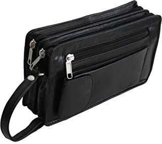 Bag Street Leather – Exquisite Leather Men's Wrist Bag, Handbag, Hand Bag, Double Chamber or Single Chamber (Choice of Colours) – Presented by Zmoka