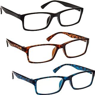 comprar comparacion Uv Reader Gafas De Lectura Negro Marrón Azul Lectores Valor Pack 3 Hombres Mujeres Uvr3092Bk_Br_Bl +1,50 3 Unidades 88 g