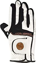 Copper Tech Gloves Men's Golf Glove with Spider Tacky Grip, X-Large, White/Black