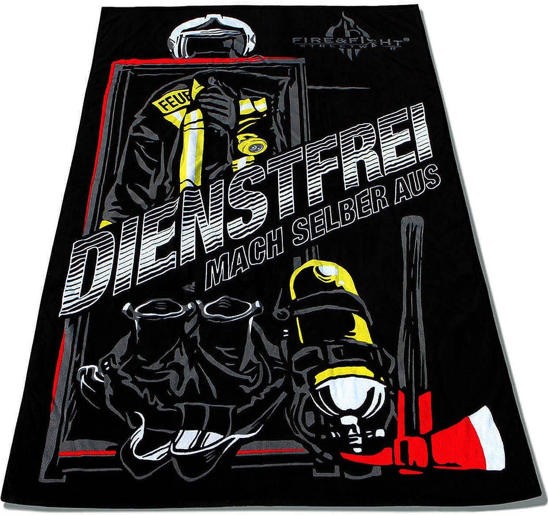 FIRE FIRE FIRE & FIGHT Streetwear Feuerwehr DIENSTFREI   kuscheliges OverGröße Frottee Sauna Strand- und Badetuch 175 x 100 cm B07DXLLJJY 352ac9