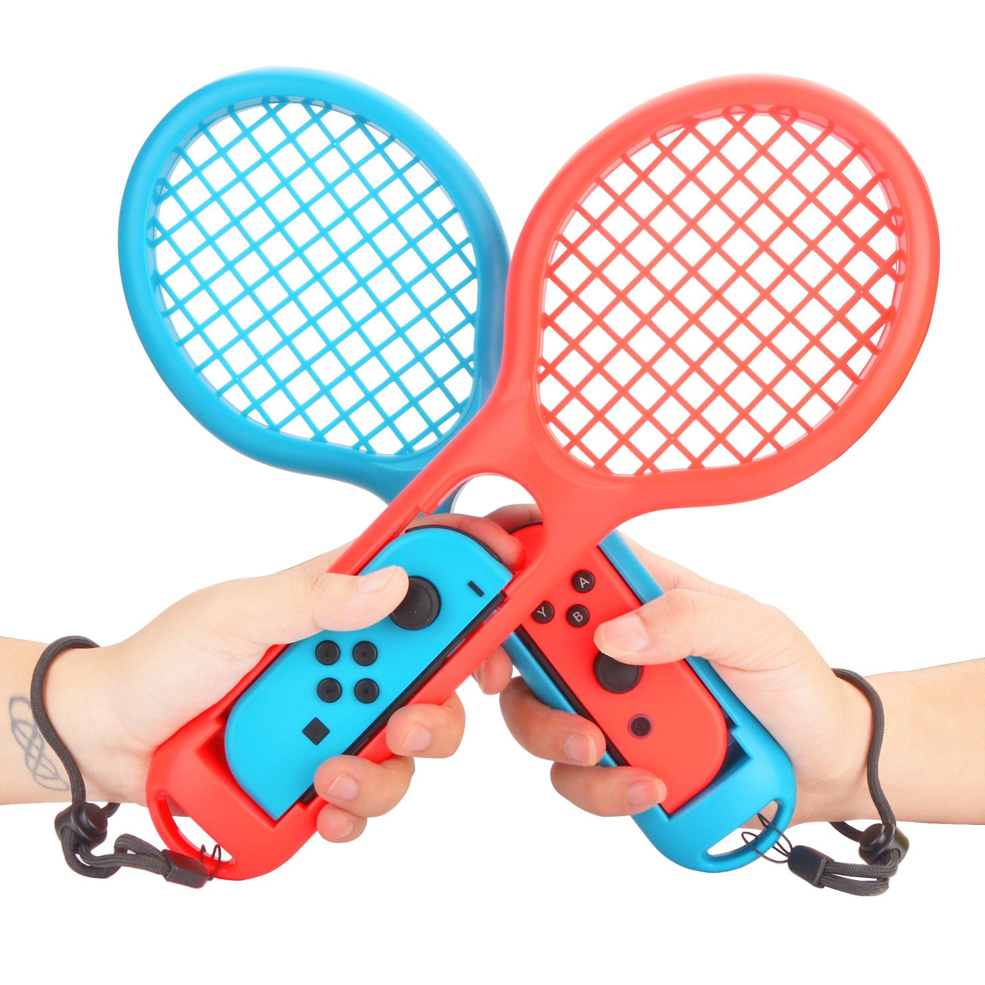 Raqueta de Tenis para Nintendo Switch - Raquetas de Tenis para Mandos Joy-con de Nintendo Switch Mario Tennis Aces Juego (1 Azul y 1 Roja): Amazon.es: Videojuegos