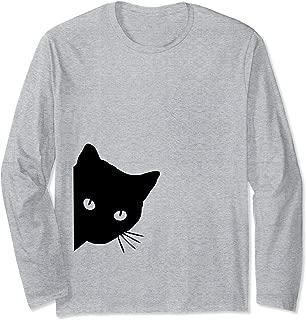 Cat Lover Ladies Long Sleeve T-Shirt, Spy Cat