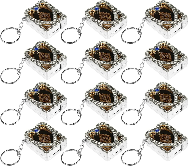 VALICLUD 12pcs Ark Quran Book Keychain Islamic Muslim Religions Keyring Bag Purse Charms Car Pendant Hanging Decoration