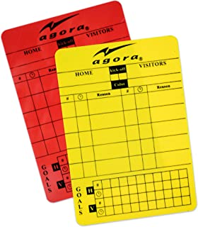 AGORA Write-On Red/Yellow Soccer Referee Card