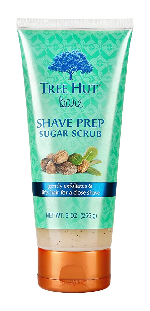 Tree Hut bare Shave Prep Sugar Scrub, 9oz, Essentials for Soft, Smooth, Bare Skin