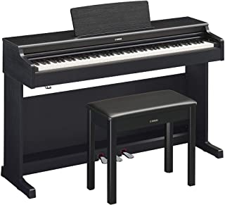 Yamaha YDP164B Arius Series Digital Console Piano with Bench, Black