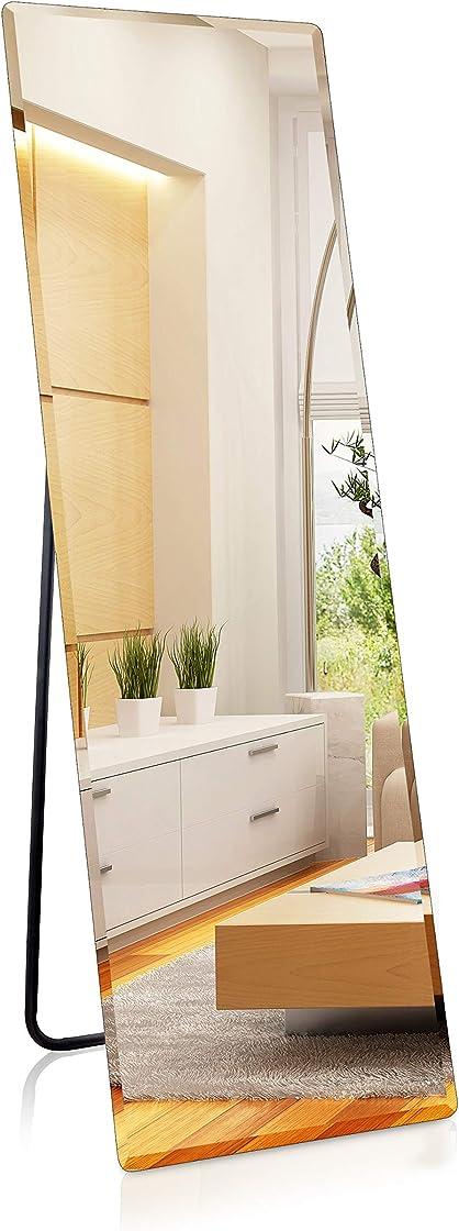 Specchio da terra con sfaccettatura, 140 x 45 cm, grande & moderno... 1000 mirrows 0904XIYPCP5