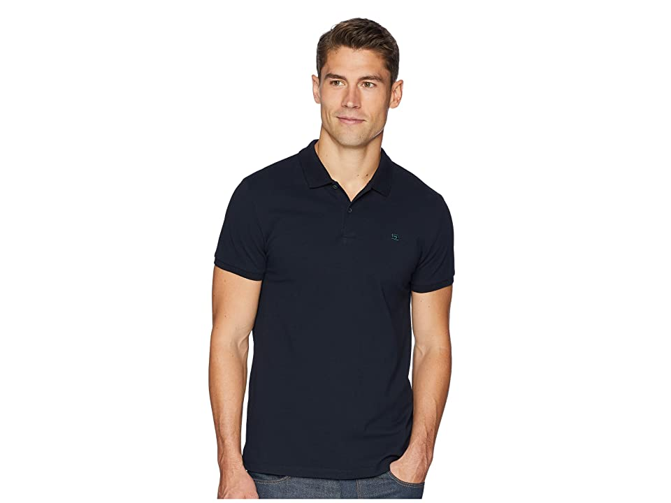 Scotch & Soda NOS Classic Polo In Pique Quality w/ Clean Outlook (Night) Men
