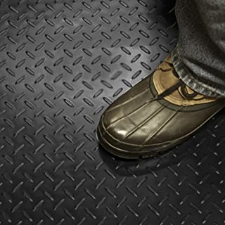 (70cm x 1.8m, Black - Diamond Plate) - Sterling Brands Black Plastic Floor Runner/Protector - Embossed Diamond Plate Patte...