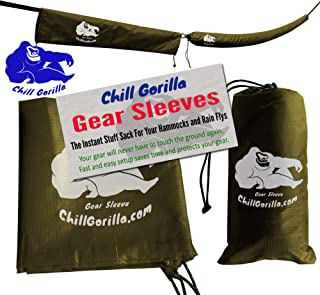Chill Gorilla Snakeskin Sleeves. Instant Stuff Sack & Protective Cover for hammocks, rain flys, tarps. 173