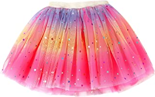 Baby Girl's Rainbow Tutu Skirt 4-Layer Tulle Princess Ballet Dress
