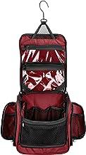 Medium Size Hanging Toiletry Bag with Detachable TSA Compliant Zipper Pocket & Swivel Hook (Maroon)