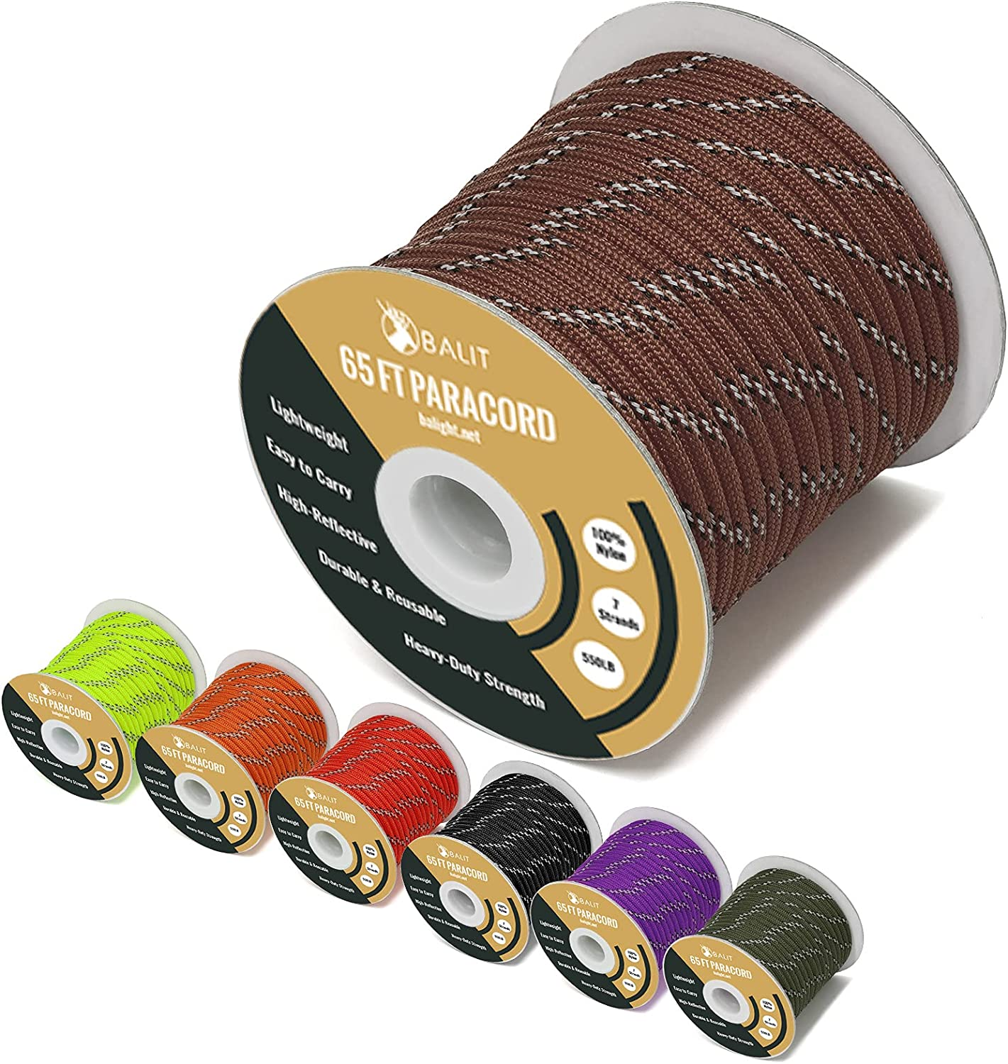 Balit Reflective 550 Paracord Oakland Mall Parachute Excellent Cord 4mm 7 St Rope Tent