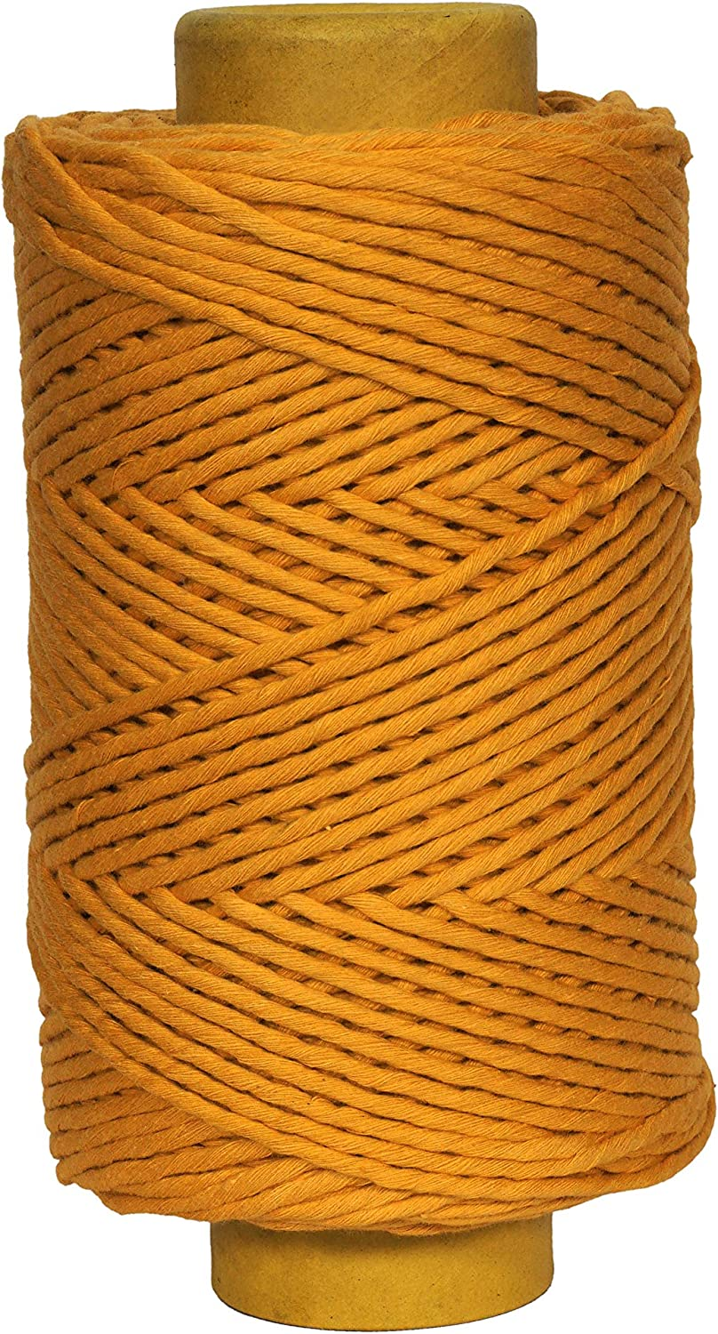 Crafteza Max 74% OFF Mustard Macrame Cord Made in Abo 210 India OFFicial store 4mm mt X