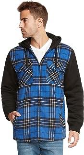 Essentials Sherpa Lined Plaid Flannel Hoodie Jacket