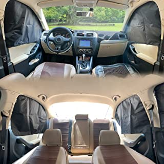 ZATOOTO Car Window Sun Shades Covers - 4 Pcs Magnetic Privacy Side Sunshades Blackout Auto Camping Curtains Accessories fo...