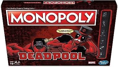 Hasbro Gaming E2033102 Marvel Deadpool Edition Monopoly Game