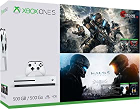 Xbox One S 500GB Console - Gears of War & Halo Special Edition Bundle