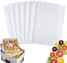 TABIGER Pack of 6 Reusable Non Stick Silicone Dehydrator Mesh Sheets 14