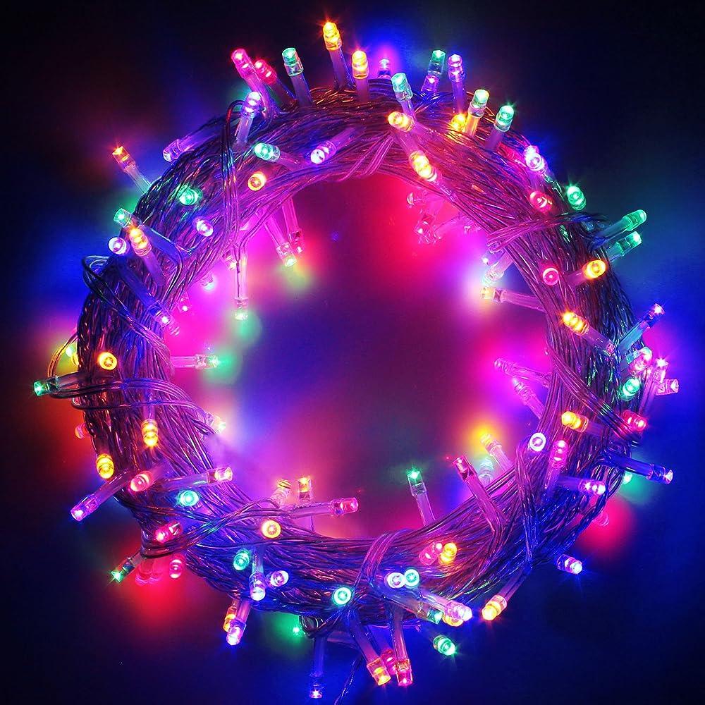 Catena luci a led luminoso natalizia 400 leds 42m luce lucciole con controller 8 funzioni FSYC400L