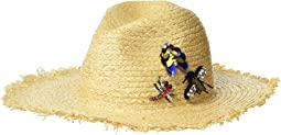 Steve Madden - Raffia Fedora with Bug Trims