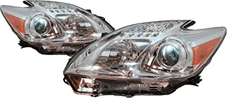 Headlight Headlamp For Toyota Prius Driver Left and Passenger Right Pair Set 2012 2013 TO2518134, TO2519134