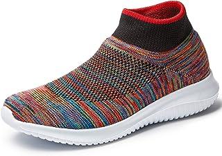 DOTTIE Womens Comfort Elastic Sock Slip On Walking Shoes Lightweight Non-Slip