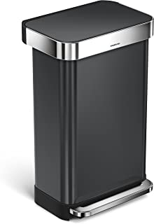 black stainless steel trash cans