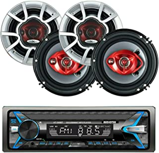Audiotek AT-249BT Single Din Digital Car Stereo Receiver with Bluetooth Bluetooth / USB / FM / MP3 and 4X SoundXtreme ST-6... photo