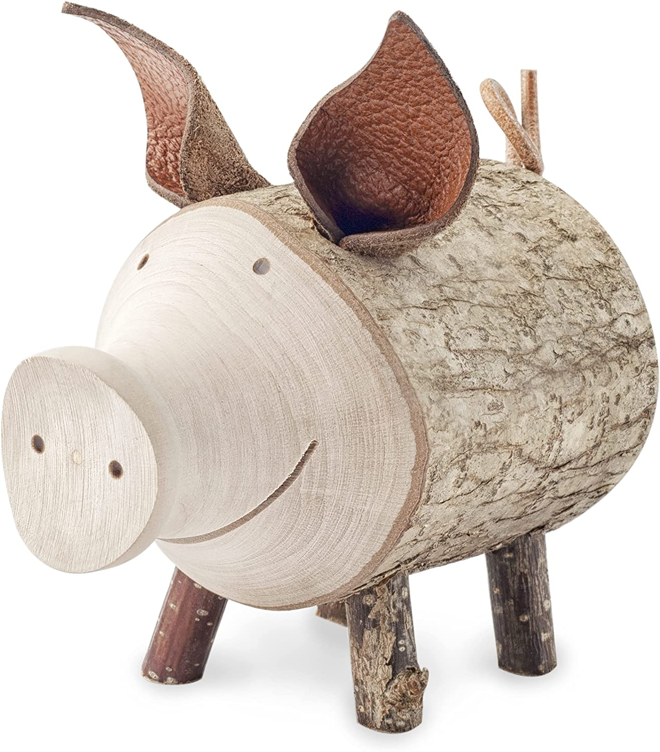 Forest Decor Pig Figurine, Wood Pig Decor, Collectible Pig Gifts for Pig Lovers, Handmade Pig Stuff for Room Decorations, Cute Decor, Small Animal Figurines (4.5