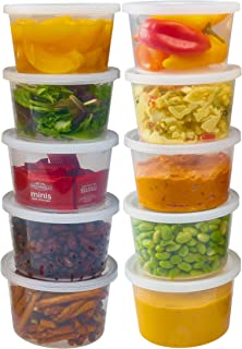 DuraHome - Deli Containers with Lids Leakproof - 40 Pack BPA-Free Plastic Microwaveable Clear Food Storage Container Premi...
