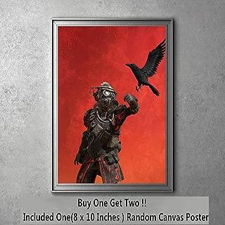 Blood Hound Video Game of Legends Slik Cloth Art Print 20 x 25 cm,Not Included Frame