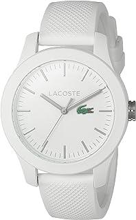 """Lacoste reloj automático""""Señoras 12.12Resina y de silicona de cuarzo de las mujeres, color: blanco (Modelo: 2000954)"""