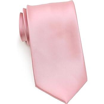 Bows-N-Ties Boy's Necktie Solid Color Microfiber Satin Tie Kids Ages 5-10