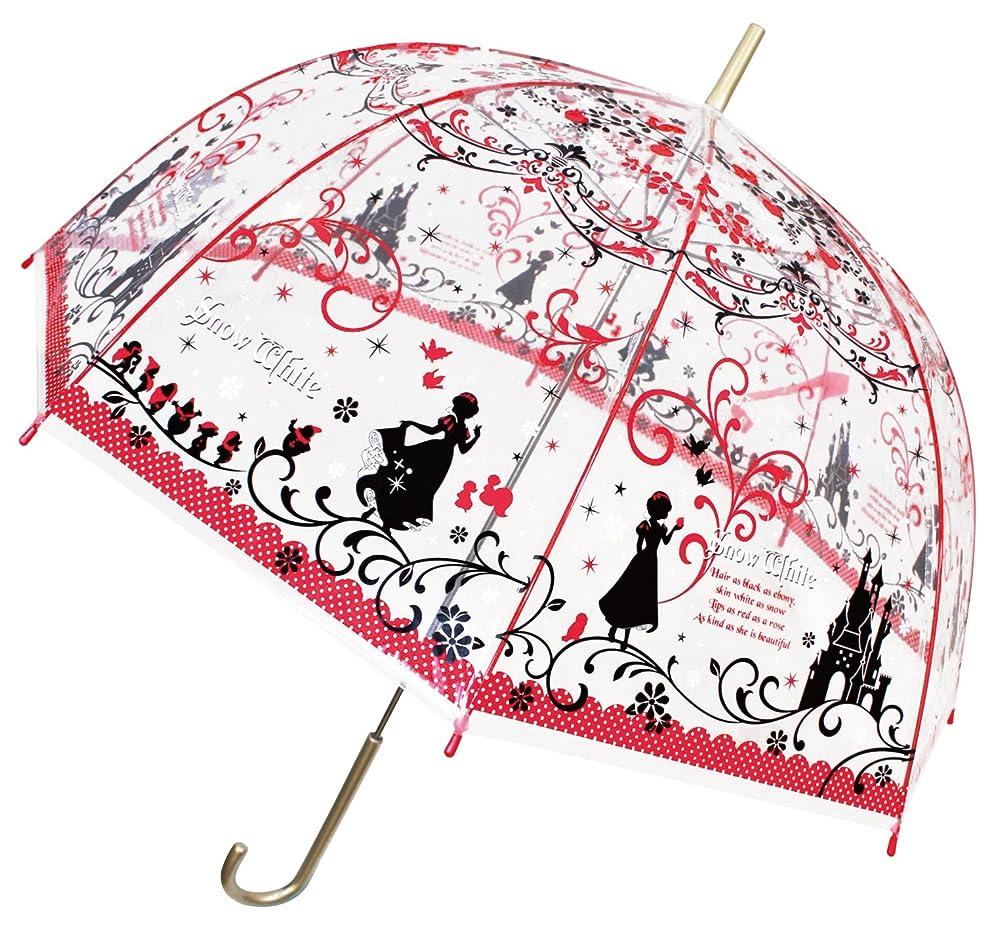 ジェイズプランニング 長傘 レッド 59cm 白雪姫 大人 ビニール傘 32415