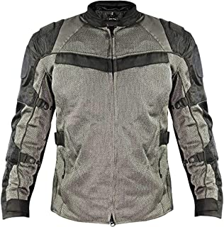 Xelement XS8162 'All Season' Men's Black/Grey Tri-Tex/Mesh Jacket - 3X-Large