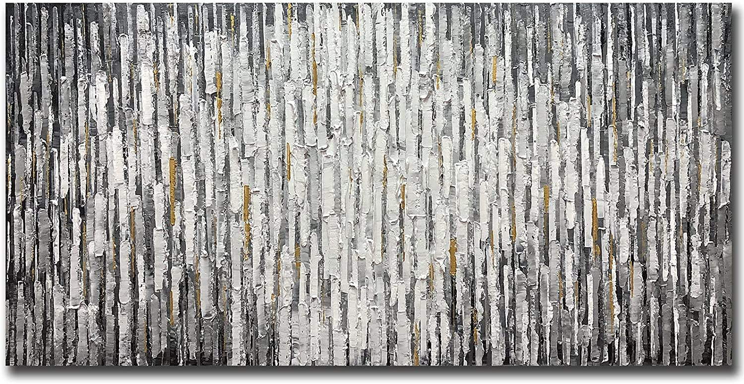 Yotree Paintings - 24x48 Inch price Max 82% OFF 3D on Grey Oil Canvas St