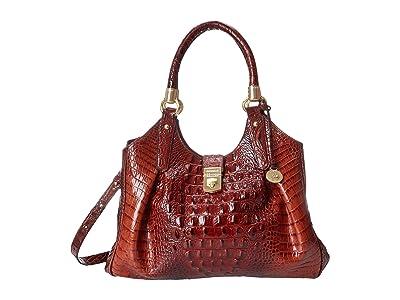 Brahmin Melbourne Elisa Satchel (Pecan) Satchel Handbags