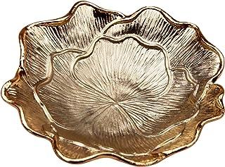 علبة مجوهرات بيتال من جيفت جيفت جيفت | لتزيين المنزل، والمجوهرات، والإكسسوارات الصغيرة (ذهبي / 4 × 4 × 1 بوصة)