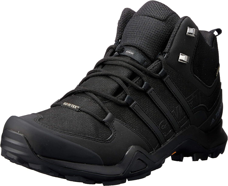 Adidas Herren Terrex Swift R2 Mid GTX Trekking- & Wanderhalbschuhe, schwarz, 50.7 EU