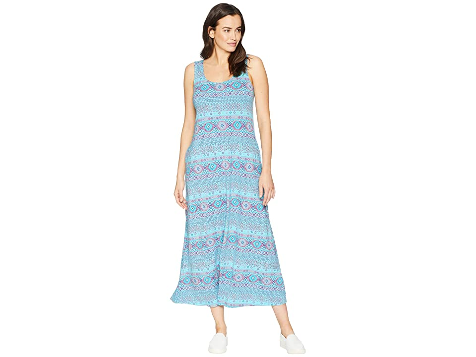 Fresh Produce Stamped Geo Maxi Dress (Luna Turquoise) Women