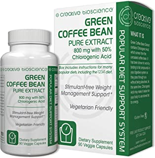 Creative Bioscience Bean Pure Extract Diet Supplement, Green Coffee, 90 Count