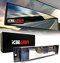 "ICBEAMER 11.8"" 300mm Easy Clip on Universal Fit Wide Angle Panoramic Auto Interior Rearview Mirror Flat Clear Surface"