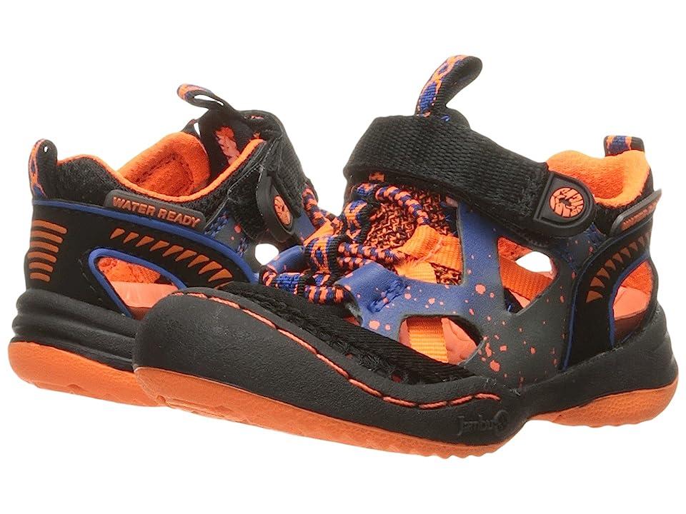Jambu Kids Squamata (Toddler) (Black/Orange) Boys Shoes